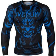 Venum Devil Long Sleeve Compression Rashguard - Navy Blue/Black