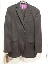 A39 Saville Row Luxury Designer 2 Piece Suit Dark Striped 40 regular