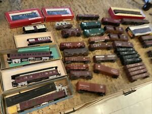 Various HO Scale Pennsylvania Railroad PRR Freight and Passenger Rolling Stock