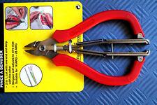Elektronik Seitenschneider + Abisolierzange 125 mm Seiten Schneider f. Platinen