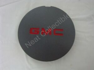 """NOS OEM GMC Sonoma 4x4 15"""" Wheel Center Hub Cap 1994 Gray with Red Letters"""