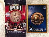FREDDIE FREEMAN ATLANTA BRAVES 2018 BASEBALL TREASURE BRONZE COIN CARD #5 NM