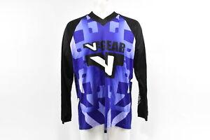 Verge V-Gear Men's L/S BMX Cycling Jersey, V Neck, Purple, Large, Brand New