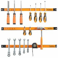 "VonHaus 3x 24"" Length Magnetic Garage Tool Storage Holder Strip Racks Organizer"