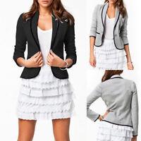 Women's OL Plus Size Work Office Lady Long Sleeve Casual Blazer Suit Jacket Coat