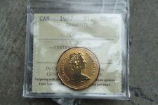 1987 Canada one dollar $1 loonie - **ICCS MS-67**