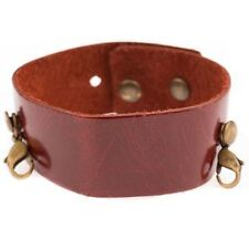 Lenny & Eva Thin Cuff Russet Leather Bracelet - Retired