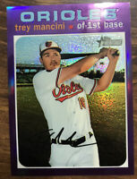 2020 Topps Heritage #THC-346 Trey Mancini Purple Chrome Orioles