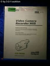 Sony Bedienungsanleitung CCD TR555E Video 8 Camera Recorder (#1444)