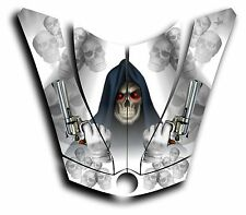 CAN-AM SPYDER RS GS HOOD DECAL GRAPHICS GRIM REAPER REVENGE WHITE