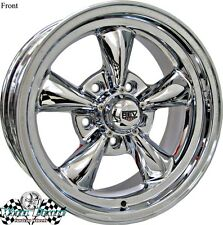 "15"" 15x7-15x8 CHROME NEW REV CLASSIC 100 WHEELS RIMS FOR BUICK SPECIAL 1964 1965"