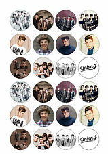 24 x Union J Cup Cake Toppers Rice/Wafer Paper