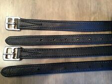"""HERITAGE 38"""" ENGLISH BROWN NON STRETCH STIRRUP LEATHERS suit NATIVE PONY SADDLES"""