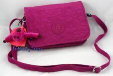 NWT KIPLING Delphine Small Cross-Body Bag Shoulder Bag Fuschia Pink