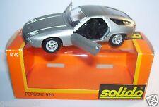 OLD GAM 2 SOLIDO PORSCHE 928 GRIS METAL REF 49B JUIN 1977 1/43 IN BOX