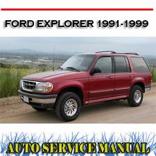 FORD EXPLORER 1991-1999 WORKSHOP SERVICE REPAIR MANUAL ~ DVD