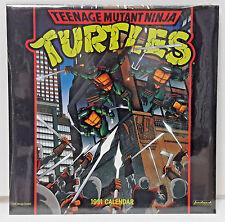 """1991 Teenage Mutant Ninja Turtles Calendar - 12"""" x 12"""" - SEALED"""