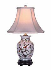 Song Birds Porcelain Vase Lamp