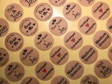 LOGO Custom Printed Personalised BROWN KRAFT Round Stickers Labels Classy Rustic
