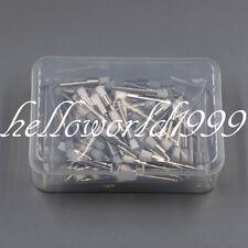 100 Pcs Dental White Nylon Polishing Flat Latch Polisher Prophy Brush Disposable