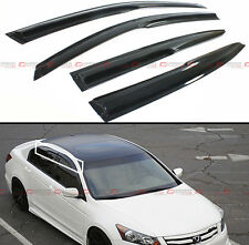 JDM MUGEN STYLE SMOKED WINDOW VISOR RAIN/SUN VENT SHADE FOR 2008-2012 8TH ACCORD