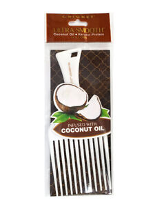 Cricket Ultra Smooth Pick Comb Coconut Oil Keratin Protein Hair Comb