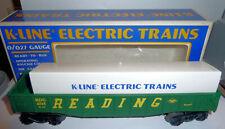 Toy Train CAR Reading Railroad Green Gondola K LINE 0 - 027 Guage In Box