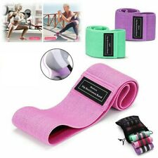 Set of 3 Cloth Resistance Booty Band Exercise Workout Fitness Gym Mesh Carry Bag