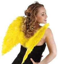 Ailes d'ange en plumes jaunes 48 cm [6528278] carnaval costume deguisement fetes