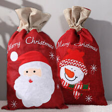 Christmas Large Gift Bags Santa Printed Packaging Xmas Sacks Drawstring Bag