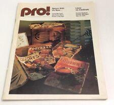 1975 Pro Lions Vs Cardinals Program
