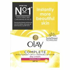 Olay 3-In-1 Day Cream Normal Dry Moisturiser SPF15 Essentials Complete Care 50ml