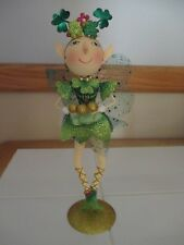 NWT PIER 1 St. Patrick's Day Glittered Celtic Fairy Decor Metal Figurine
