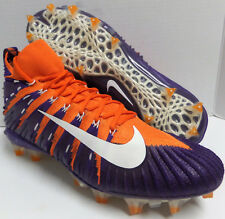 Men NIKE ALPHA MENACE ELITE FOOTBALL CLEATS Orange Clemson 877141 815 Size 11.5