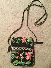 Vera Bradley Purse, Black/Green/Pink Floral Design, EUC Shoulder Bag