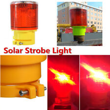 Car Solar Power LED Strobe Warning Emergency Flashing Red Automatically charging
