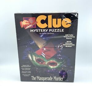 """Clue Mystery Puzzle """"The Masquerade Murder"""", 500 Pieces, Parker Brothers"""