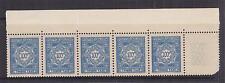 ALGERIA, Postage Due, 1953 100f. Blue, marginal strip of 5, mnh.