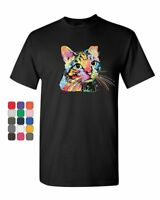 Fabulous Catillac T-Shirt Dean Russo Colorful Neon Cat Kitten Mens Tee Shirt