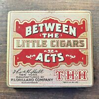 Vintage BETWEEN THE ACTS Little Cigars Smoking Tobacco Advertising Tin-CLEAN!