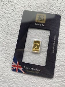 1 g Gram Baird And Co Gold Bullion Bar