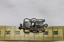14x32.5mm Dragon Head Box Clasp Brass, Platinum Color /2 Clasps