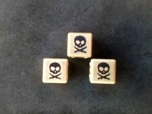 A Pirate's Life Brass Skull Dice