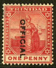 Trinidad   1909-10   Scott #O9c   Mint Hinged - Thin