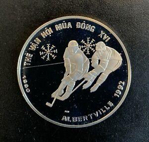 Vietnam - Silver 100 Đồng Coin - ' Winter Olympics Albertville' - 1990 - Proof