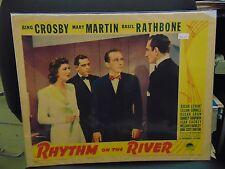 """Bing Crosby Basil Rathbone Rhythm On The River Original 11x14"""" Lobby Card #L8635"""