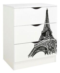 Kommode mit Aufdruck - ROMA - Möbel für ein Kinderzimmer, Eiffelturm