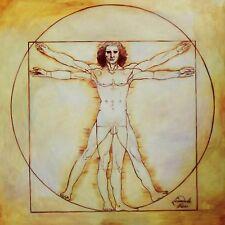 LEONARDO da Vinci-Studio delle proporzioni 90x90 cm riproduzione DIPINTO AD OLIO
