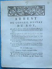 ARRET 1737 : CONDAMNATION TARDIVOT DRAPIER DE PLOMBIERE (CÔTE D'OR)