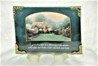"""Thomas Kinkade 2002 Print w/ Easel """"Grandmother Is A Blessing"""" Glass 3""""×4"""""""